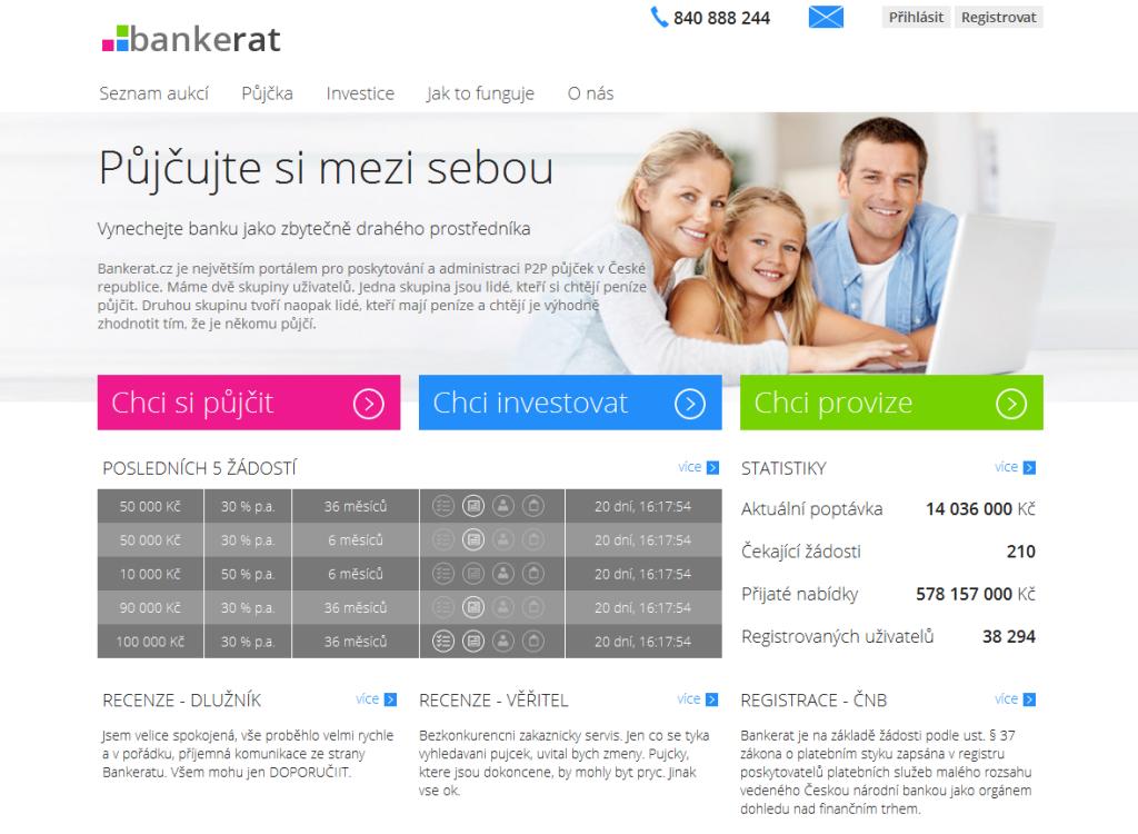 Bankerat půjčky - P2P půjčky